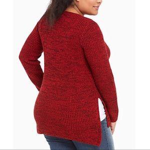 Torrid Marled Tunic V-Neck Sweater